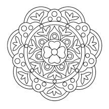 Courtyard Floor Design Rangoli Coloring Page Telas Drawing