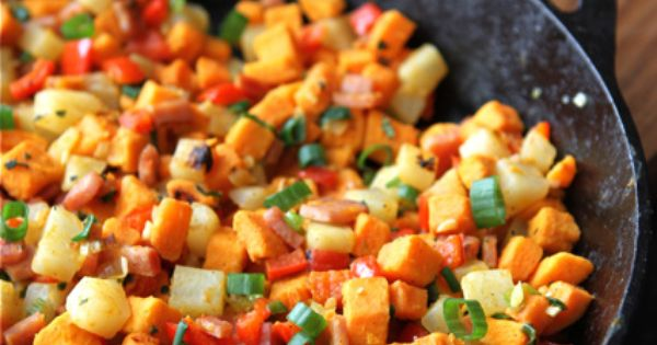 Sweet potato hash, Potato hash and Canadian bacon on Pinterest