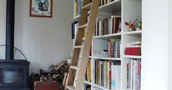Une chelle de biblioth que billy biblioth que billy - Echelle bibliotheque ikea ...