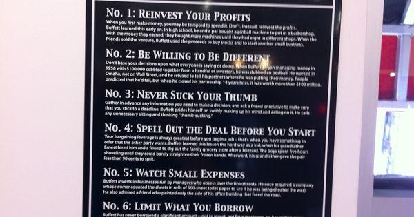Warren Buffett's Ten Rules for Winning   Warren buffett ...