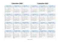 Calendrier Excel 2020.Calendrier 2020 2021 A Imprimer Gratuit En Pdf Et Excel