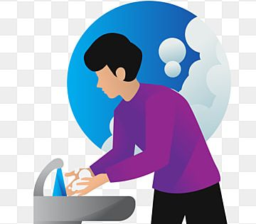 Gambar Mewarnai Kartun Mencuci Tangan Sketsa