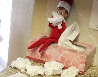 Elf on a Shelf - Caught a cold from traveling back &