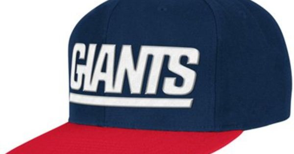 Mitchell Ness New York Giants Throwback Xl Logo 2t Snapback Hat Navy Blue Red Nfl Outfits New York Giants Snapback