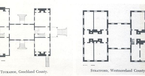 H plan of tuckahoe plantation goochland county virginia for 1009 fifth avenue floor plan