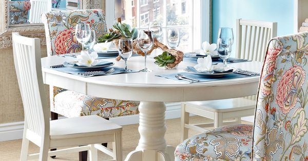 Pier1 Dining Table: Ronan Pedestal Extension Table