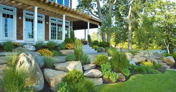 25 Gorgeous Front Yard Rock Garden Ideas On A Budget 25 In 2020 Landscape Design Rock Garden Design Landscaping With Rocks