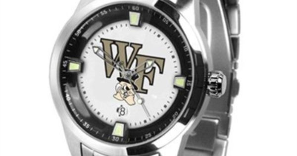 Keep Track Of Time With The Wake Forest Demon Deacons Men S Titan Watch For 149 95 Outdoor Watch Stainless Steel Band Steel Watch