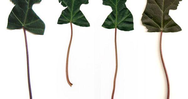 Leaf Silhouette Portraits by Jenny Lee Fowler // via oncewed