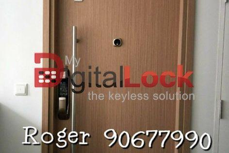 Samsung P728 Digital Door Lock Gold Silver Unlock Using Mobile Phone With Smart Home Connect In 2018 In Singapo Digital Lock Digital Door Lock Laminate Doors