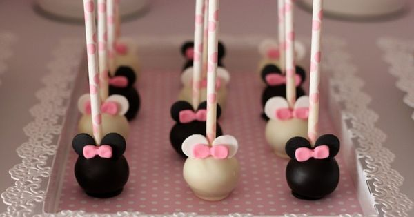 "Minnie Mouse cake pops / Birthday ""Grace's 2nd Birthday"" 