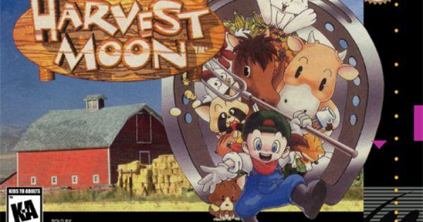 Harvest Moon Nintendo Super Nes Cover Artwork Harvest Moon Snes