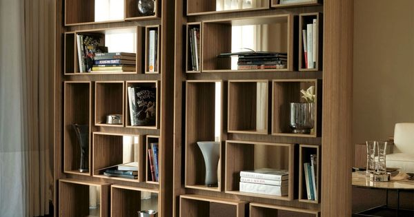 First walnut bookcase porada furniture pinterest for Porada arredi srl