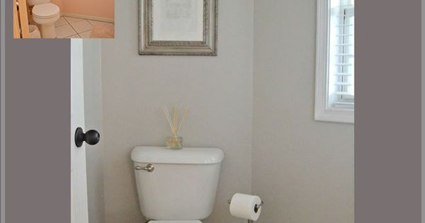 Behr Cotton Grey Powder Room Makeover Powder Room