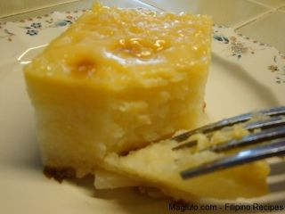 Pinoy Recipe Cassava Cake 2 Packs Frozen Grated Cassava Thawed Kamoteng Kahoy 1 Can Sweetened Condensed Milk Re Filipino Desserts Pinoy Food Cassava Cake