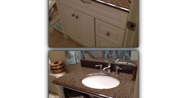 Bathroom Sink Outlet : Hair dryer storage and outlet under bathroom sink! Thanks to Dad ...