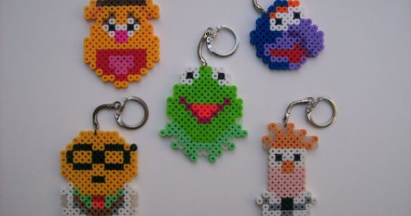 The Muppets melty bead keychains