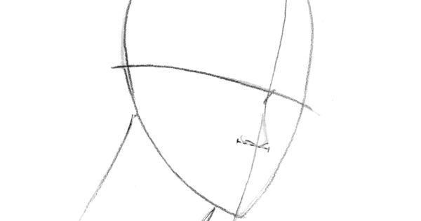 three quarter view how to draw