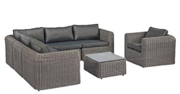 poly rattan lounge gartenset grau sofa garnitur polyrattan, Terrassen ideen
