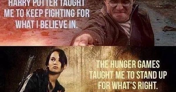 Never watched Harry Potter but movies seem to have a lead on teaching life lessons