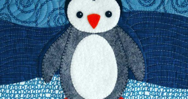 penguin quilt patterns | betz white: Polar Babies Quilt and Pillow