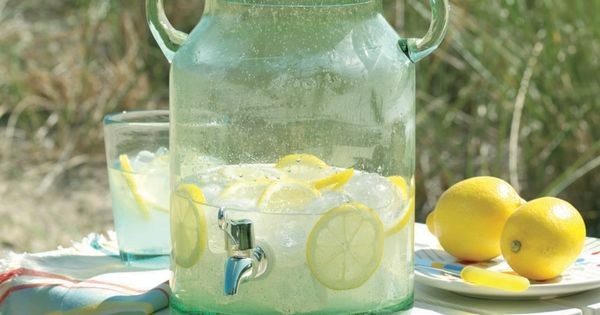 Tag Summer Cottage Vintage Glass Jar Drink Dispenser, Green, 10.25-Inches Tall x
