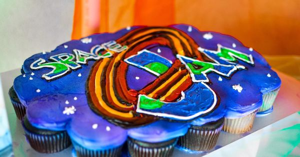 Space Jam 2nd Cake Pull Apart Cupcake Space Jam Party