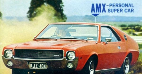 Brochure For The 1969 Amx That Was Assembled In Australia By