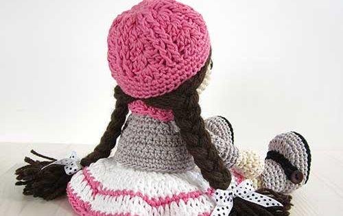 Amigurumi Jacket : Girl in a dress, jacket, boots and hat amigurumi pattern ...