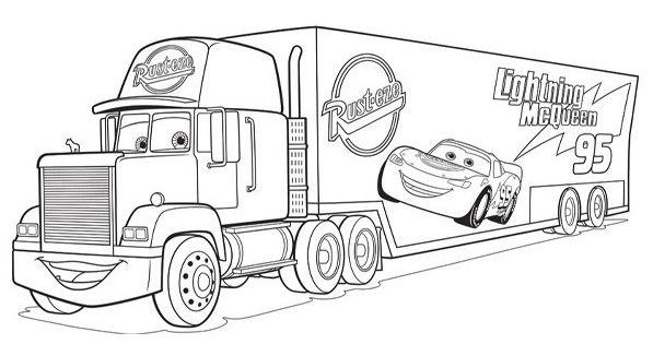 Coloriage cars mack activit enfant id e d co - Coloriage enfant cars ...