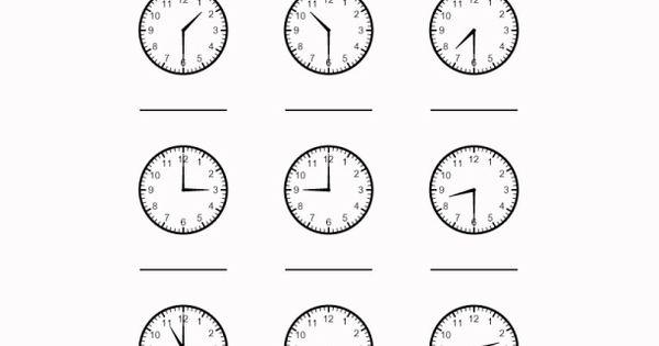 time worksheet telling time pinterest worksheets. Black Bedroom Furniture Sets. Home Design Ideas
