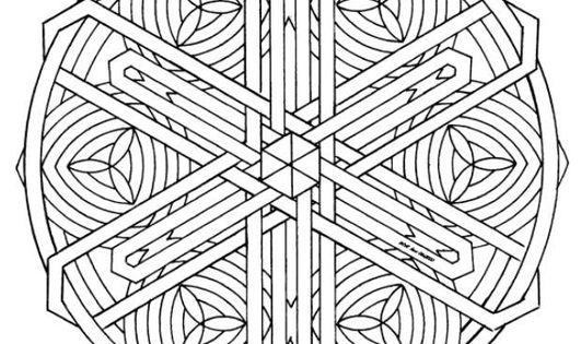 Coloring Page Mandala 1602n