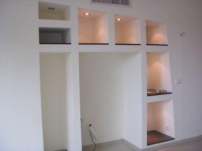 Creation Bibliotheque Meuble En Placoplatre Amenagement Salon Deco Meuble Tele Amenagement Interieur Maison