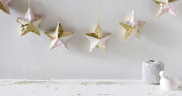 holiday inspiration : stars. garlands.