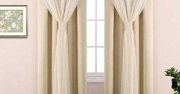 Double Layers Light Blocking Mix Match Elegance Crushed Voile