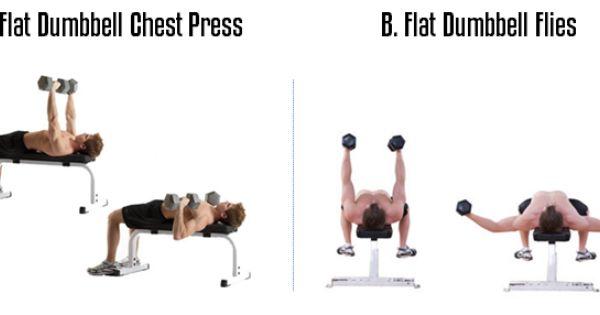 Superset the Flat Dumbbell Chest Press & Flat Dumbbell ...