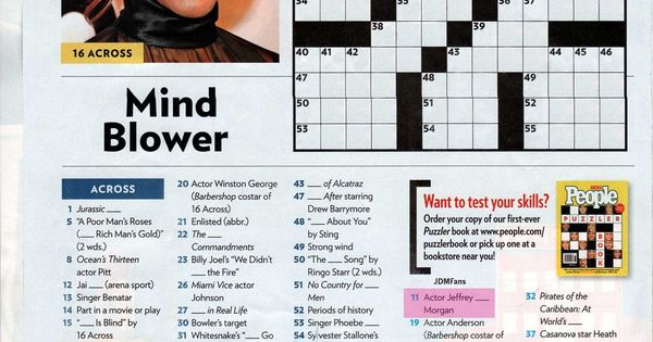 Candid image within people magazine crossword printable