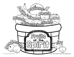 Fruit Of The Spirit Bible Printables Fruit Of The Spirit Abc Coloring Pages Coloring Pages