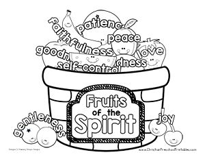 Fruit Of The Spirit Printables Fruit Of The Spirit Coloring