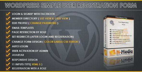 Wordpress Registration Form Registration Form Email Template