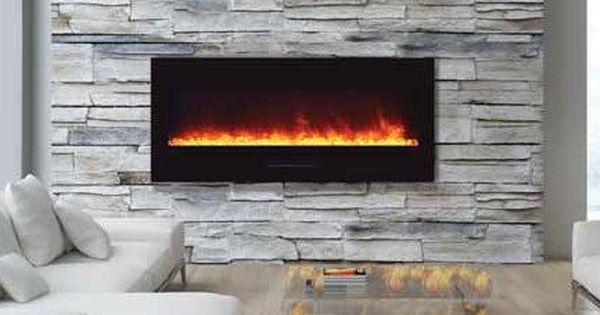 Amantii 50 Wall Mount Electric Fireplace Wm Fm 50 Bg Home Alley