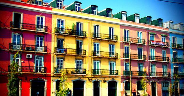 Colorful Building Lisbon Colourful Buildings Colorful