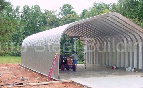 Amazon Com Duro Span Steel G25x30x13 Metal Building Kit Direct Residential Drive Through Carport Garage Industria Metal Building Kits Metal Buildings Carport
