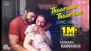 Kadaram Kondan Tharame Tharame Lyrics Tamil Songs Lyrics Love Songs Lyrics Love Songs
