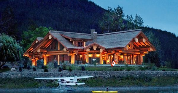 courtesy of pioneer log homes of b c maisons pinterest lacs avions et b ches. Black Bedroom Furniture Sets. Home Design Ideas