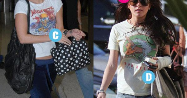 Celebs in true vintage tees - can you name each one and