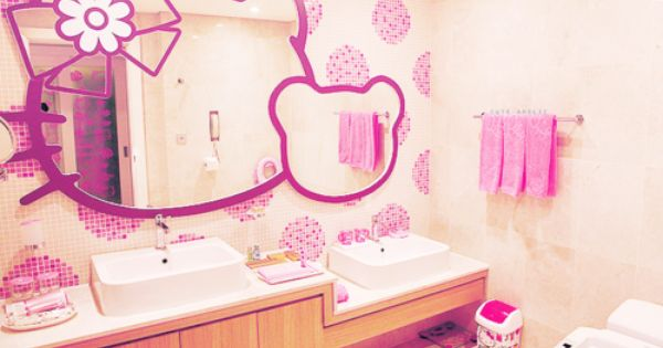 hello kitty bathroom for my little someday. Black Bedroom Furniture Sets. Home Design Ideas