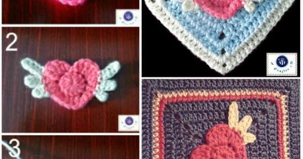 Free Crochet Angel Square Patterns : Angel Heart Crochet Granny Square Free Pattern Free ...