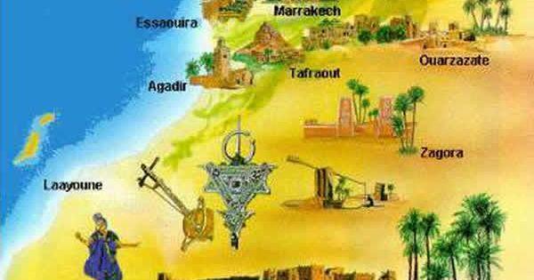 Maroc Carte postale monuments Maroc sur carte-du-monde.net ...