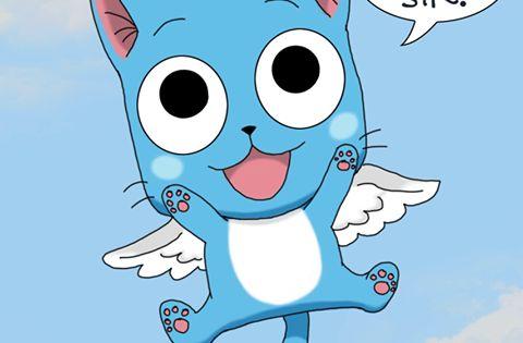 Pin By Mycrolivia On Fairy Tail Fairy Tail Happy Fairy Tail Anime Fairy Tail Cat
